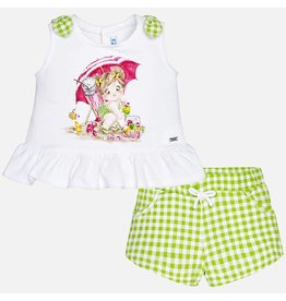 Mayoral Girl short set Pistachio