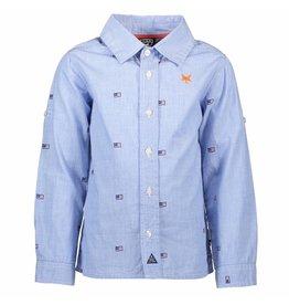Lcee Boys Shirt Fil A Fil Ao Print