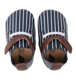 Bobux Bobux Navy-White Stripes Tan