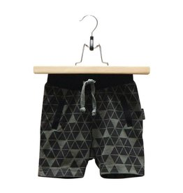 Lucky No 7 Army Green Geo Short