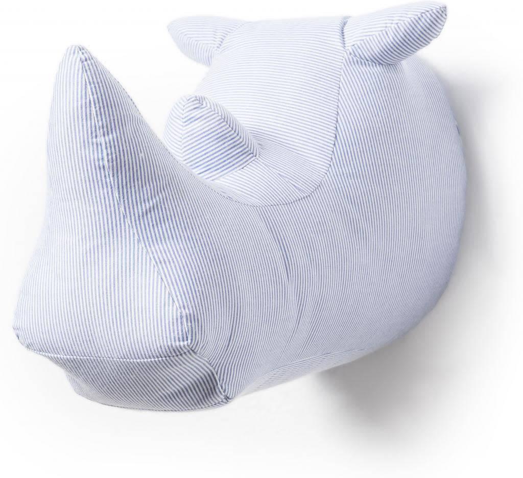 Wild & Soft Abstract Neushoorn Blauw/Wit Joseph