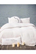 """Bed & Philosophy Coussin Shining Typo """"S"""" plume """"0"""""""