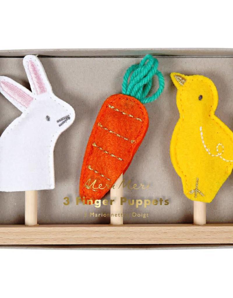 Marionnettes de doigts Pâques - Set de 3 Multicolore - Meri Meri