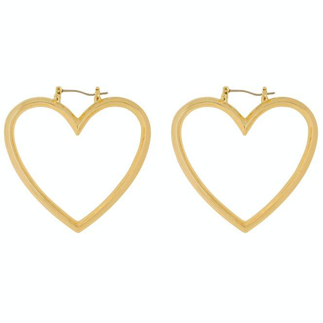 CLUB MANHATTEN HEART HOOPS BIG goldplated