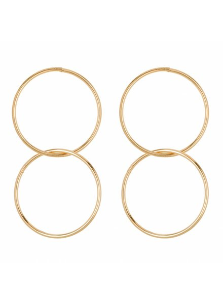CLUB MANHATTEN INNERCIRCLE HOOPS goldplated