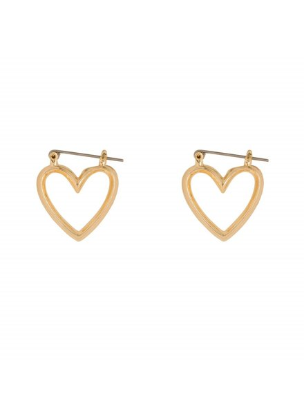 CLUB MANHATTEN HEART HOOPS SMALL goldplated