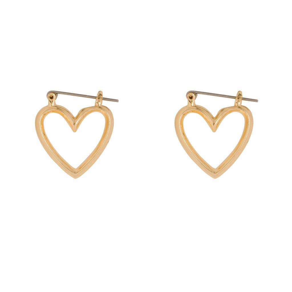 CLUB MANHATTEN HEART HOOPS SMALL goldplated