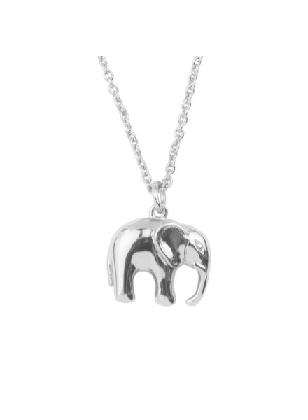 ATLITW ELEPHANT NECKLACE silver