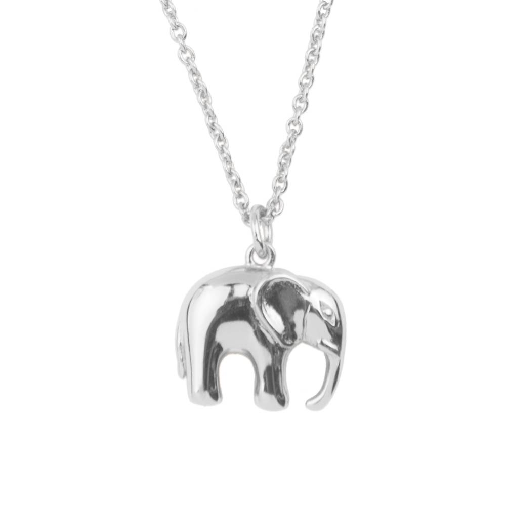 ATLITW ELEPHANT NECKLACE silver