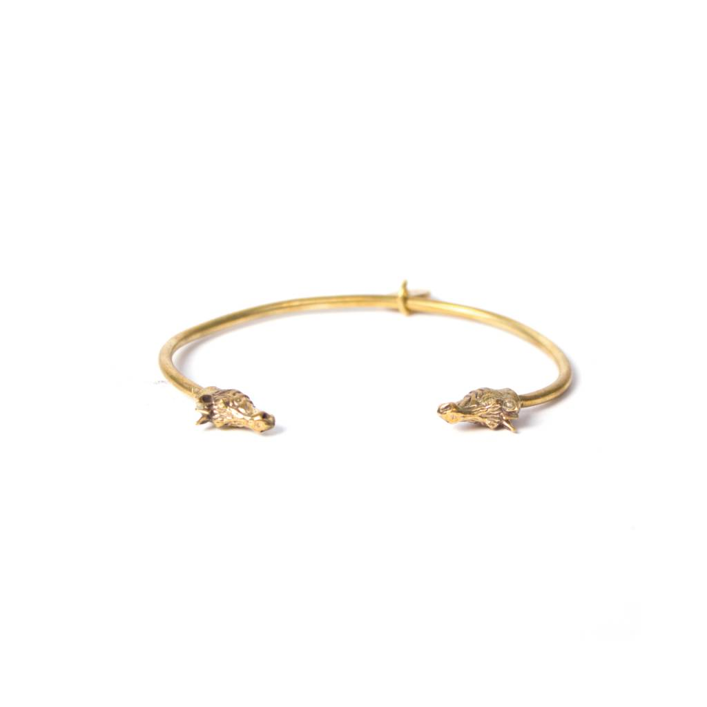 A la ZEBARA BANGLE brass