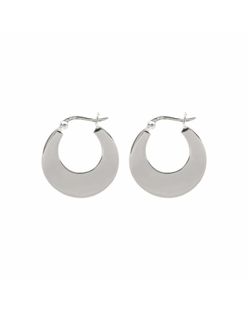 Eline Rosina HIGH SHINE HOOPS silver