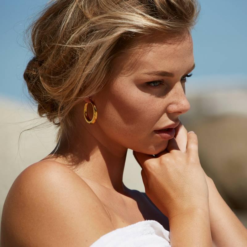 Eline Rosina CHUNKY HOOPS gold