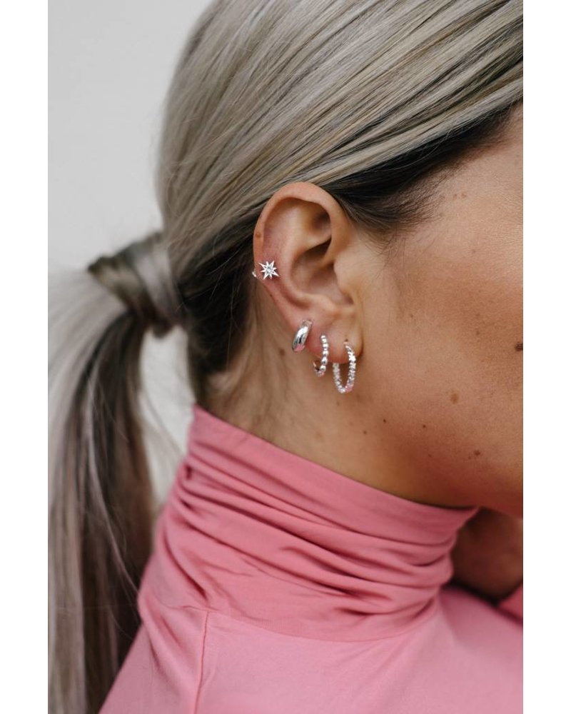 Eline Rosina SMALL HOOPS silver