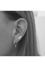 Eline Rosina CONE HOOPS silver