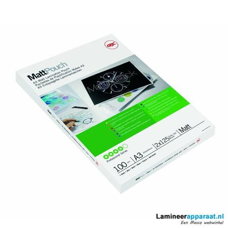 GBC Lamineerhoes GBC A3 2x125micron Mat 100vel