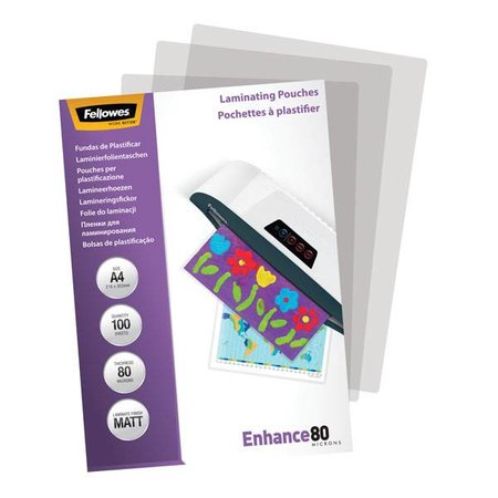 Fellowes Lamineerhoes Fellowes A4 2x80micron Mat 100vel