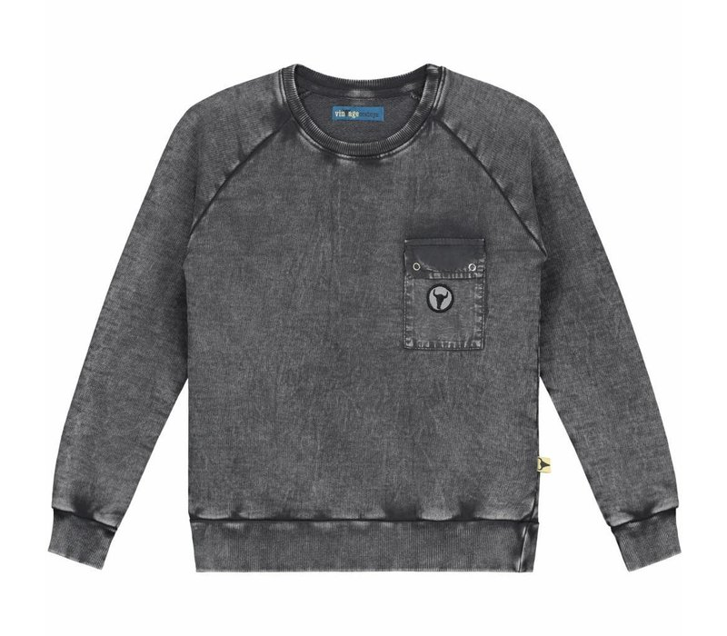Sweater Mitchell - pockets with logo