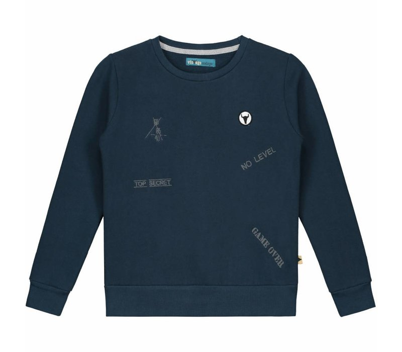 Sweater Jeffrey - embroidered sweater