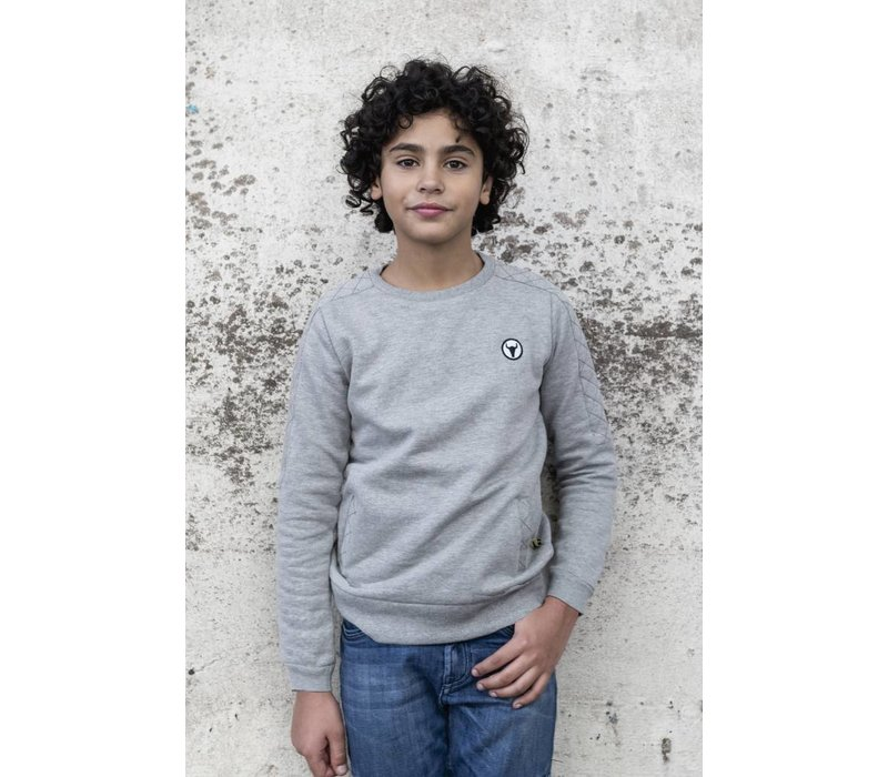 Sweater Charly - sweater with padded sleeves