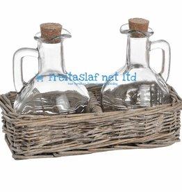 Washed Grey Rectangle Condiment Basket