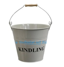 Kindling Bucket Light Grey