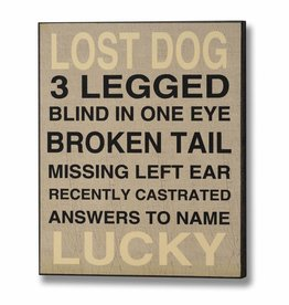 Lost Dog Wooden Plaque