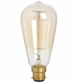 Edison Filament Teardrop Squirrel Cage Bulb Bayonet