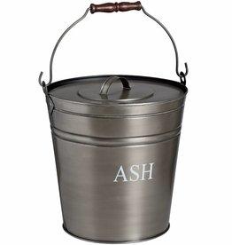 Antique Pewter Ash Bucket