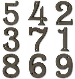 Rustic Brown Cast Iron Numbers