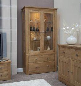 Torino Oak  Glass Display Unit
