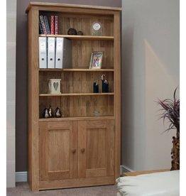 Torino Oak 2 Door Bookcase
