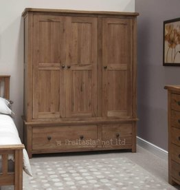 Rustic Oak Triple Wardrobe
