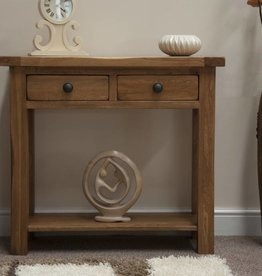 Rustic Oak Console Table