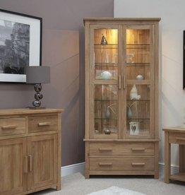Opus Oak Glass Display Unit