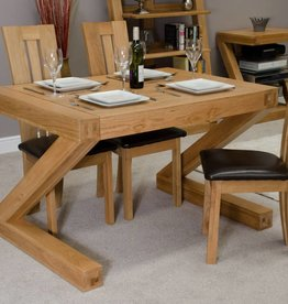 Z Designer Solid Oak Small Dining Table