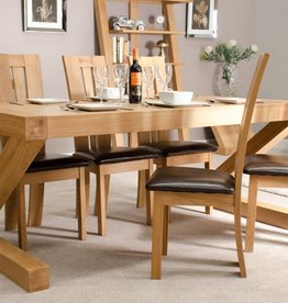Z Designer Solid Oak Large Dining Table