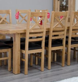 Deluxe Oak Large Extending Table