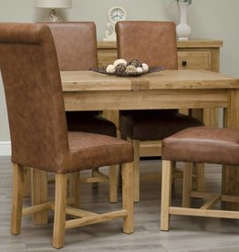 Deluxe Oak Butterfly Extending Table