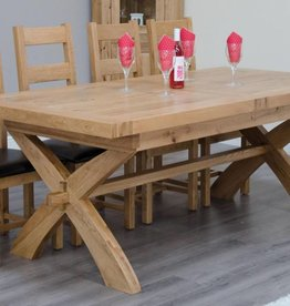 Deluxe Oak X Leg Extending Table