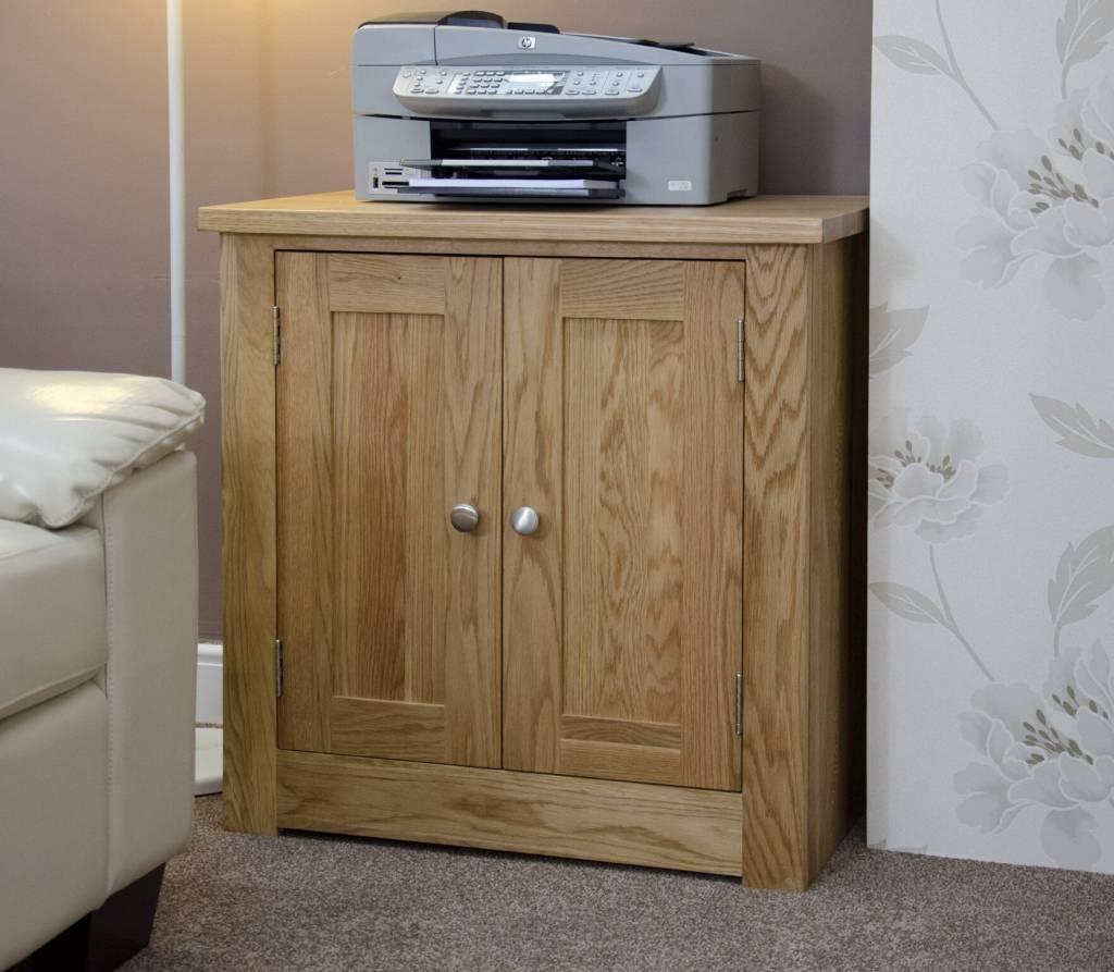 Beau Torino Oak Printer Occasional Cabinet ...