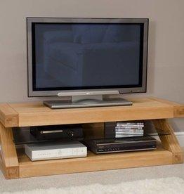 Z Designer Solid Oak TV Plasma Unit