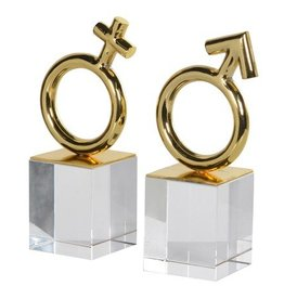M & F Bookends