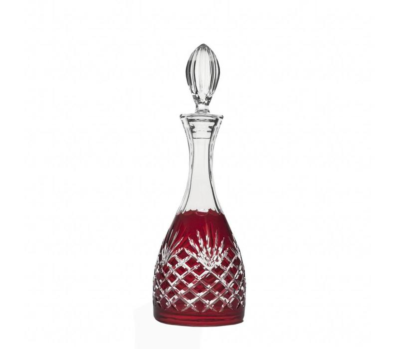 Ruby Red Crystal Decanter