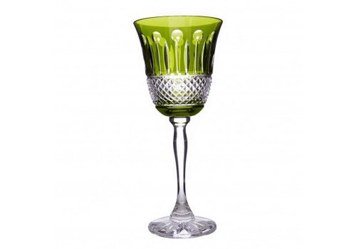Rainbow Olive Green Wine Goblets, set of 2