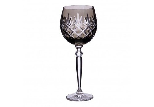 Pure Luxe Pineapple Crystal Wine Goblet, Smoke