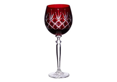 Pure Luxe Pineapple Crystal Wine Goblet, Burgundy