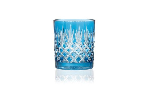 Gurasu Crystal  Pineapple Sky Blue Tumblers, set of 2