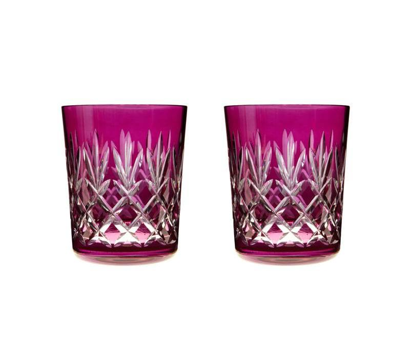 Pineapple Raspberry Double Old Fashioned, set of 2