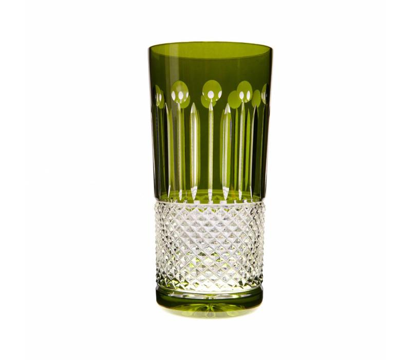 Olive Green High Ball Glass, set of 6