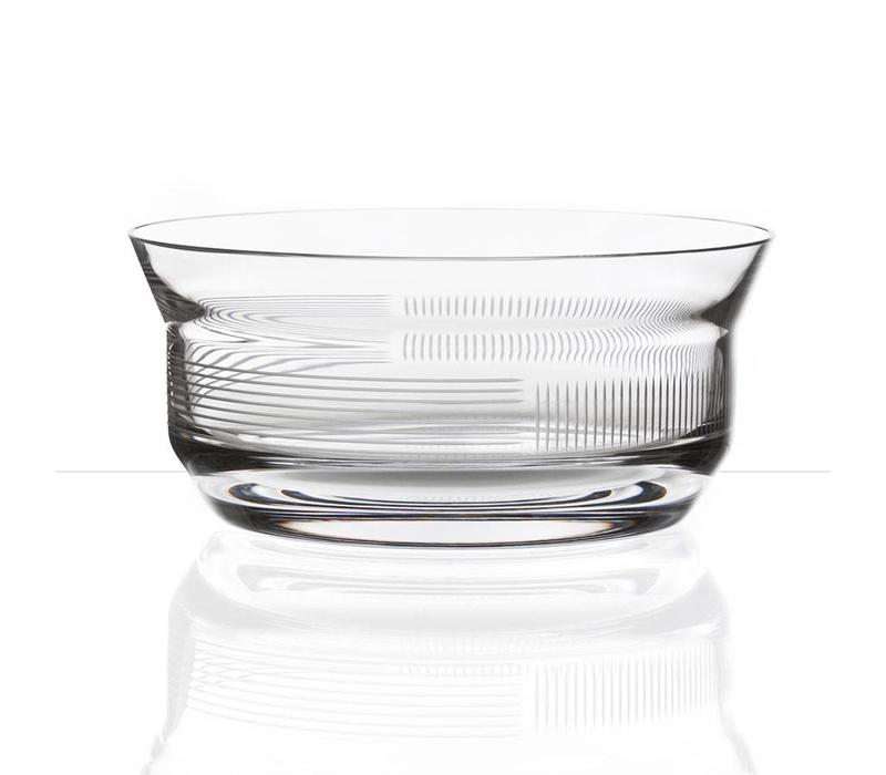 Lines crystal bowl